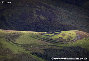Huntford Hill Hillfort Scotland  UK aerial photograph