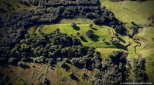 Rough Castle Roman Fort on the Antonine Wall   from the air