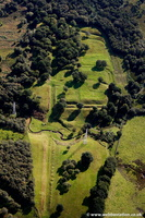 Rough Castle Roman Fort on  the Antonine Wall Scotland  UK aerial photograph