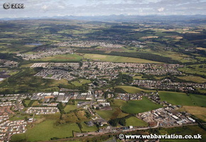 Bonnybridge Stirlingshire  Scotland  UK aerial photograph
