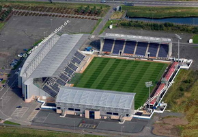 Falkirk stadium  Scotland  UK aerial photograph