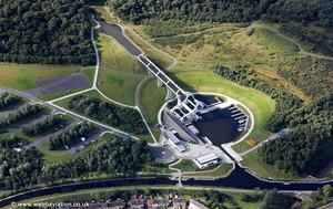 Falkirk Wheel aerial photograph