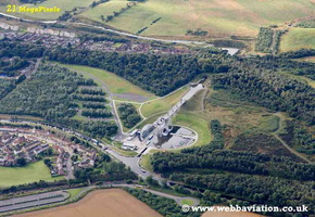 Falkirk Wheel Scotland  UK aerial photograph