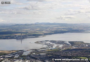 Port of Grangemouth on the River Forth Grangemouth Scotland  UK aerial photograph
