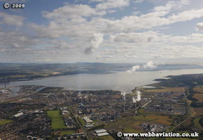 Grangemouth Stirlingshire Scotland  UK aerial photograph