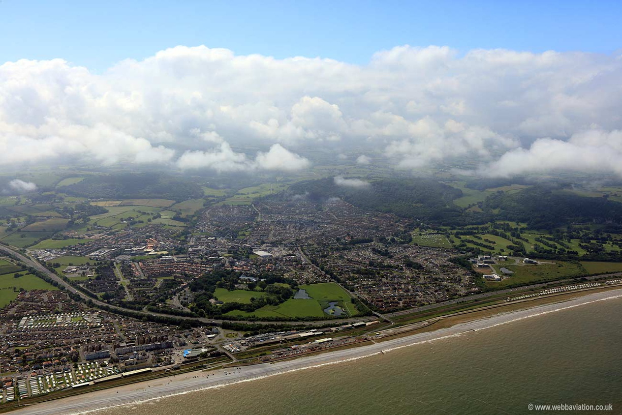 Orographic Cloud over Abergele aerial photograph