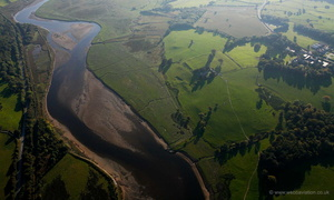 Canovium Roman Fort in North Wales  aerial photograph