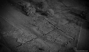 World War 1 practice trenches at Bodelwyddan North Wales from the air