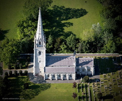 Marble Church, Bodelwyddan North Wales aerial photograph