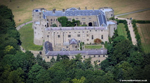 Chirk castle aerial photo