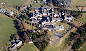 North Wales Hospital Denbigh Wales aka Denbigh Asylum aerial photograph