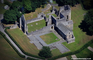 Valle Crucis Abbey aerial photo