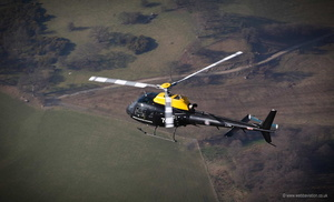 RAF Squirrel HT1 training helcopter over Llangollen aerial photograph