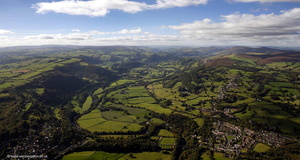River Dee Vale of Llangollen from the air