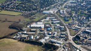 Lon Parcwr Industrial Estate, Ruthin, Clwyd, LL15l aerial photograph