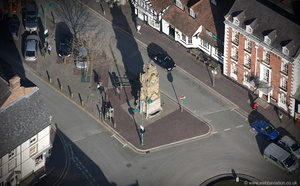 Peers Memorial, Ruthin aerial photograph