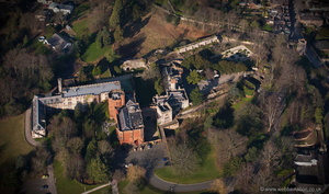 Ruthin Castle aerial photograph