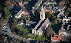 St Peter's Church Ruthin aerial photograph