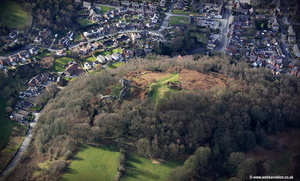 Caergwrle Castle  aerial photograph