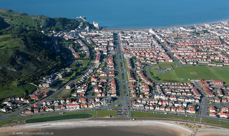 Golddaeth Avenue & West Parade  Llandudno  from the air