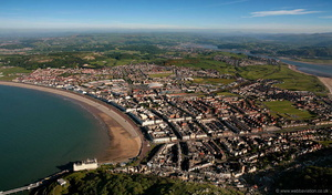 Llandudno North Wales from the air