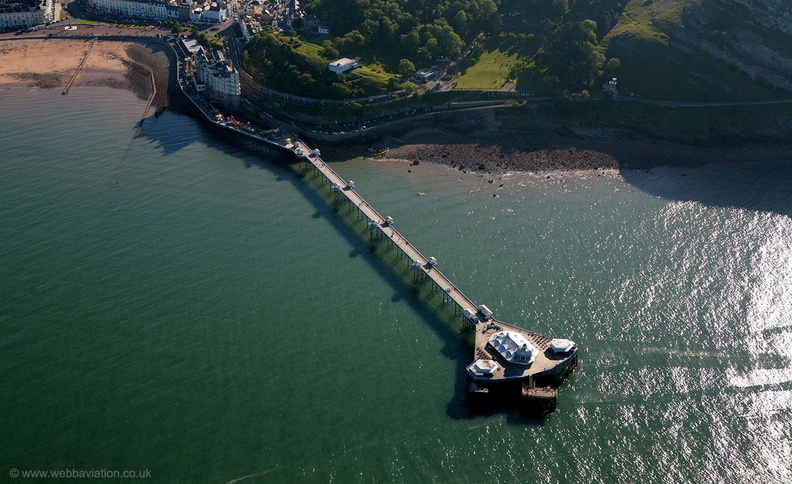Llandudno Pier from the air