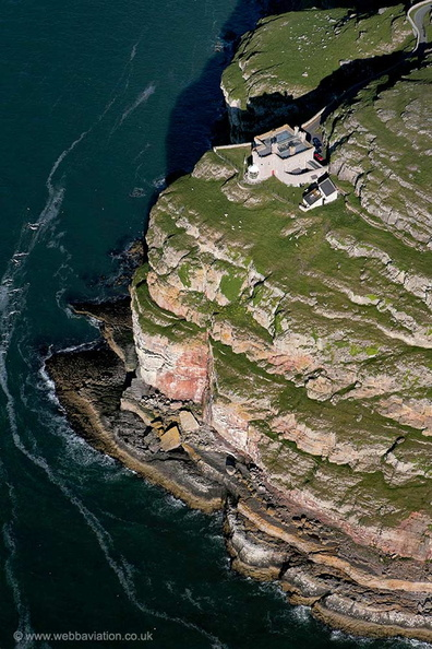 Old Lighthouse Great Orme  North Wales from the air