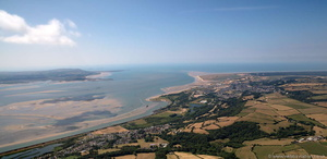Burry Port & Pwll  South Wales from the air