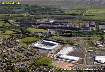 Llanelli Carmarthenshire  Wales UK aerial photograph