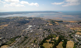 Llanelli  South Wales from the air