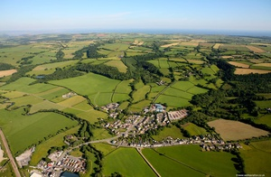 Trevaughan Carmarthenshire Wales aerial photograph
