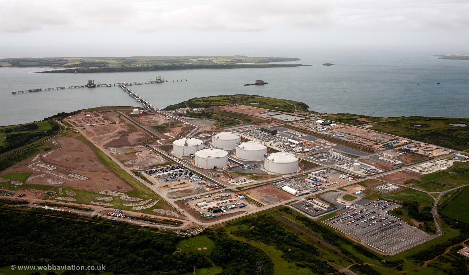 South Hook LNG terminal near Milford Haven aerial photo