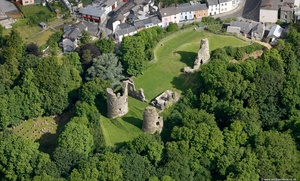 Narberth Castle Pembrokeshire Wales aerial photograph