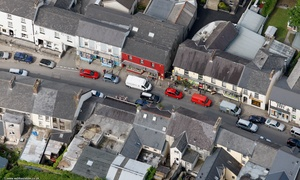 Narberth Pembrokeshire Wales aerial photograph