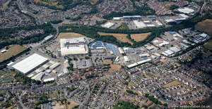 Bedwas Industrial Estate from the air
