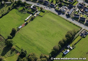 Gelligaer Roman Fort  Wales UK aerial photograph