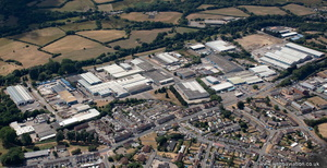 Pantglas Industrial Estate from the air