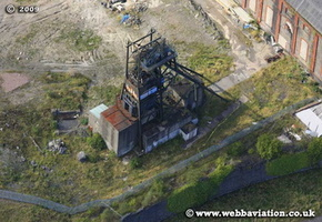 Penallta Colliery near Hengoed  Rhymney Valley South Wales aerial photograph