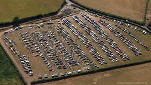car boot sale in  Abergavenny from the air