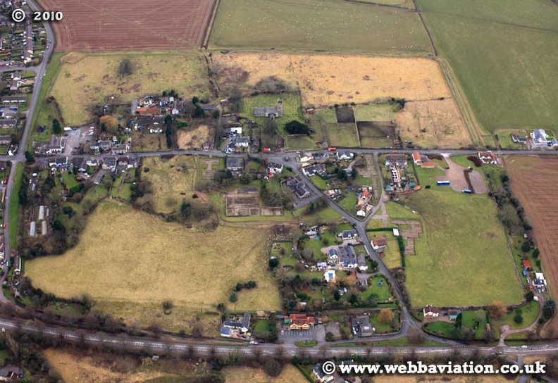 Caerwent Wales site of the Roman town of Venta Silurumaerial photograph