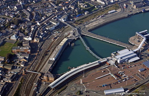 Celtic Gateway Holyhead Anglesey  aerial photograph