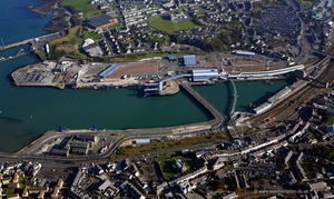 Holyhead Ferry Port Anglesey  aerial photograph