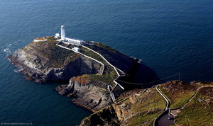 South Stack Lighthouse Anglesey  aerial photograph