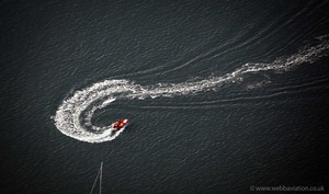 fishing boat at  Caernarfon aerial photograph