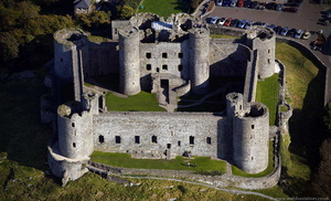 Harlech Castle Wales aerial photograph