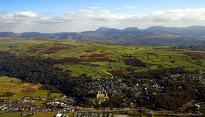 Harlech Wales aerial photograph