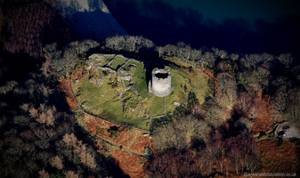 Dolbadarn Castle Llanberis Pass Wales from the air