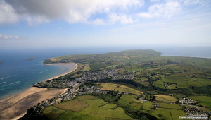 Abersoch  on the Llŷn  Peninsiula North Wales  aerial photograph