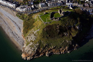 Criccieth Castle North Wales aerial photograph