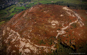 Garn Boduan  Iron Age hillfort  from the air